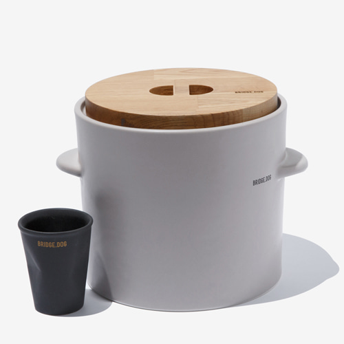 BRIDGE FEED BUCKET - GRAY(WITH CUP) 5월28일발송가능