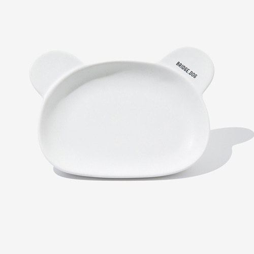 BRIDGE BEAR DISH-WHITE