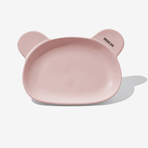 BRIDGE BEAR DISH-PINK