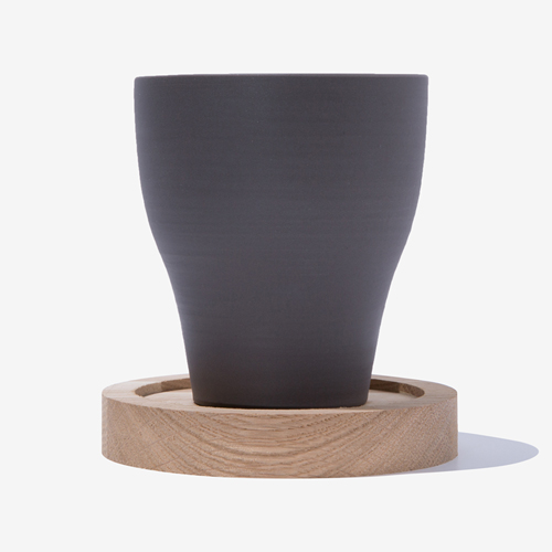 BLACK CLAY - CUP TRAY SET
