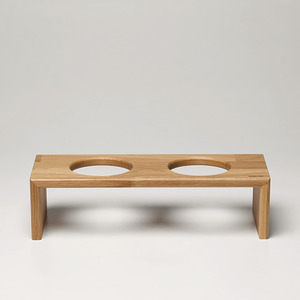 BRIDGE TRAY2  9CM - OAK/MERBAU