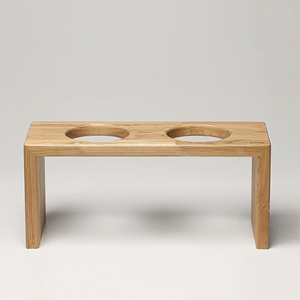 BRIDGE TRAY 17CM - OAK/MERBAU
