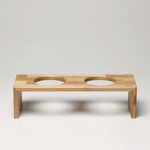 [BRIDGE.CAT] TRAY 12CM - OAK/MERBAU
