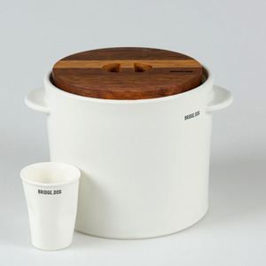 BRIDGE FEED BUCKET- WHITE(WITH CUP)