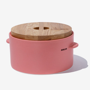 BRIDGE FEED BUCKET- CORAL PINK(WITH CUP)