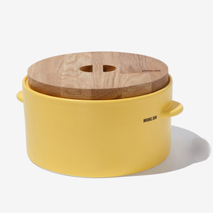 BRIDGE CAT  FEED BUCKET- YELLOW(WITH CUP)