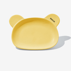 BRIDGE CAT BEAR DISH  - YELLOW