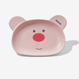 BRIDGE BEAR DISH-PINK FACE