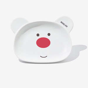 BRIDGE BEAR DISH-WHITE FACE