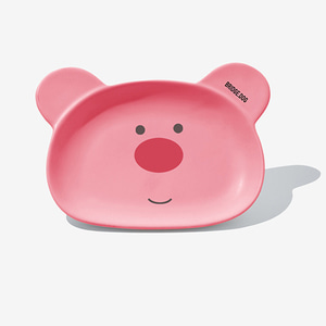 BRIDGE BEAR DISH-CORAL PINK FACE