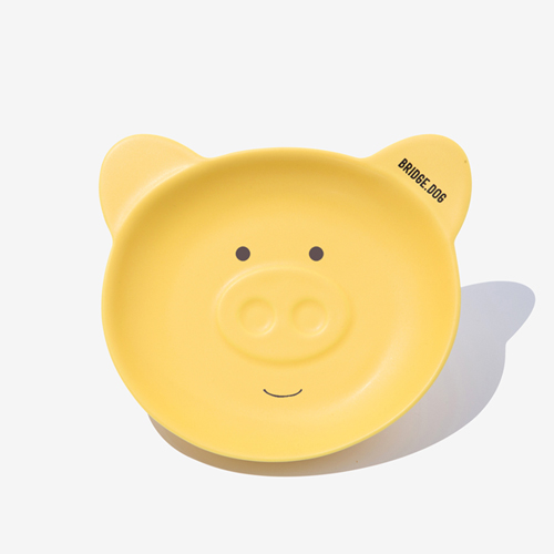 BRIDGE PIGGY DISH - YELLOW FACE