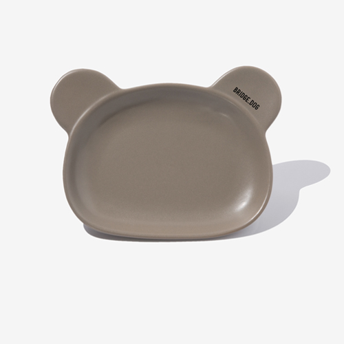 BRIDGE BEAR DISH-COCOA
