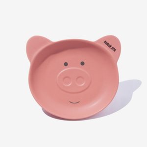 PIGGY DISH - CORAL PINK FACE