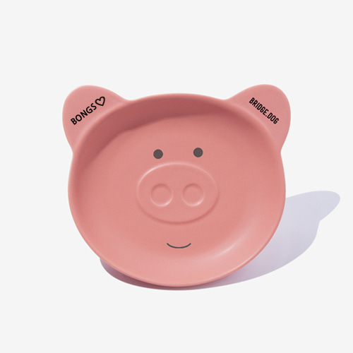 PIGGY NAME DISH - CORAL PINK FACE
